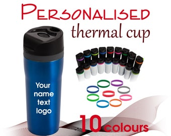 Personalised travel thermal cup 350 ml