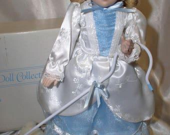 Little Bo Peep, Danbury Mint, Storybook Doll Collection, 1980's, porcelain+cloth, vintage