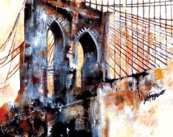A Portrait of the Brooklyn Bridge