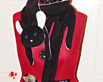 Cat Scarf Black
