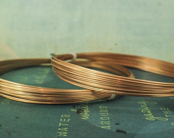 Half Round Solid Bronze Wire - 100% Guarantee - 22 gauge Dead Soft - Made in the USA - 50 feet