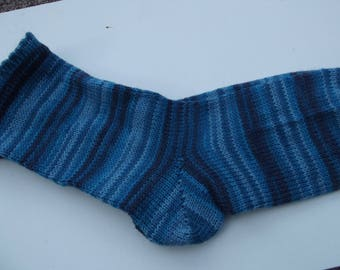 Hand Cranked and Hand Finished Socks Blues