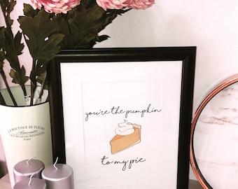Pumpkin Pie Print A4