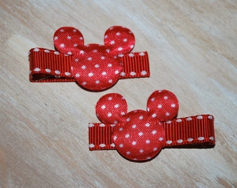 Mickey Mouse Red Dot Hair Clips - Buy 3 Items, Get 1 Free