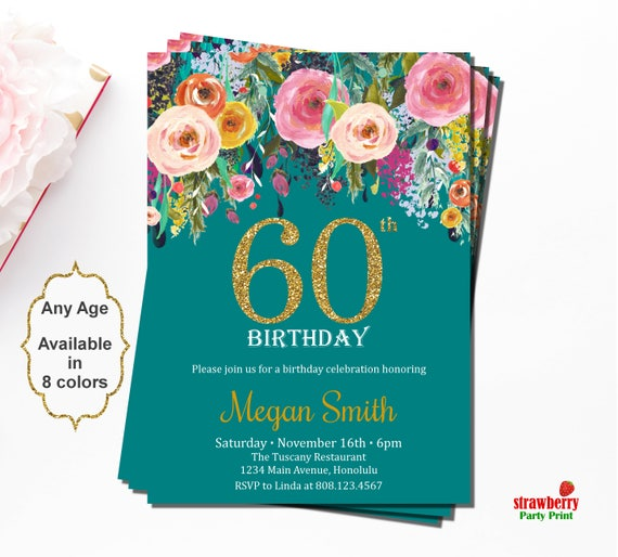 60 birthday invitations