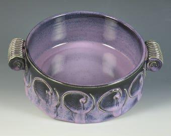 ceramic baking dish,hot dip dish,serving bowl,baking dish,open casserole,chowder bowl,oven baking dish, pottery,soup bowl,handmade