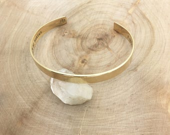 Secret Message Cuff Bracelet / custom cuff bracelet / hand stamped / personalized / aluminum, brass, copper or sterling silver