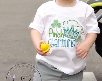 Custom St. Patrick's Day Shirt   Happy St. Patrick's Day Shirt for boy or Girl   Shamrock   Personalized Shamrock Shirt