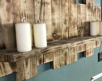 Rustic solid wood shelf