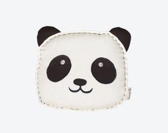 Peekaboo Panda - Organic Shape Cushion, Baby Cushion, Panda Baby Cushion, Gender Neutral Baby Gift, Baby Shower Gift Ideas, Panda Baby Gift