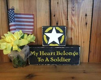 Patriotic Army My Heart Belongs To A Soldier