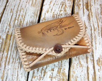 Fly Fishing Wallet / Leather Wallet For Flies / Leather Fly Wallet / Fly Fishing Case / Fishing Lure Pouch / Leather Fly Fishing Pouch