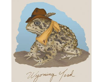 The Wyoming Toad Print
