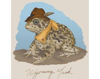 L'impression de crapaud Wyoming