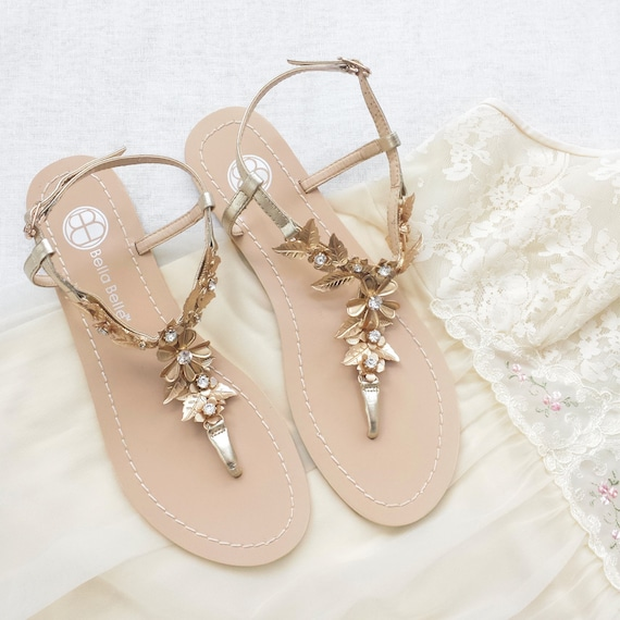 boho wedding shoes bohemian wedding sandals shoes with gold brass leaves and 2012