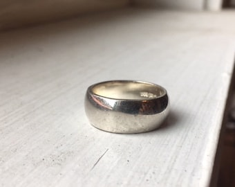Vintage Thick Sterling Silver Band