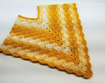 Crochet Poncho Lil Golden Gal Toddler Poncho Crochet Pattern DIGITAL DOWNLOAD ONLY