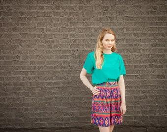 Vintage 80s Teal Short Sleeved BOBBIE BROOKS Blouse Simple Classy Top Women's Medium