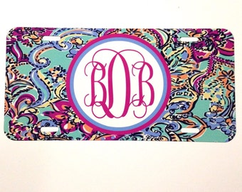Bait and Switch License Plate. Monogrammed Car Tag. The Ultimate Monogram Accessory will look great on any car!