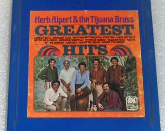 8 Track Herb Alpert & the Tijuana Brass Greatest Hits album Excellent condition FREE SHIPPING