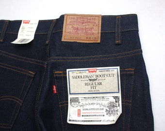 80s nwt Vintage Levi's 517 0217 Saddlemen Boot Cut jeans size 30x29 Made in USA