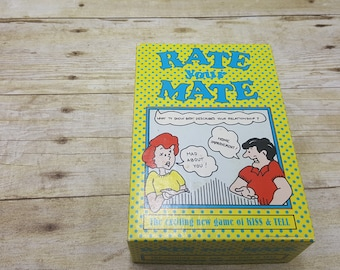 Rate Your Mate, vintage card game, 1994, vintage game