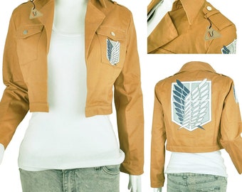 Anime cosplay Attack on Titan Jacket Coat Cosplay Costumes Khaki Cosplay Costume Cosplay Accessories attack on titan cosplay