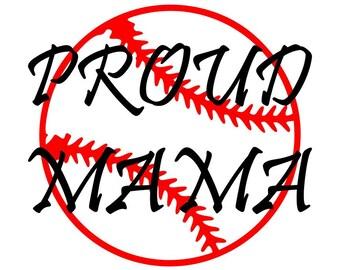 Adult Proud Mama/Dad Baseball T-shirt