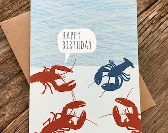 funny birthday card / lobsters