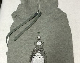 Totoro embroidered hoodie sweatshirt