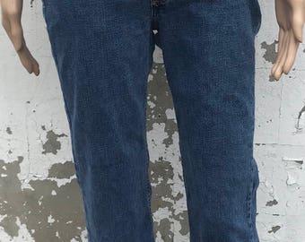 Vintage Tommy Hilfiger Blue Jeans / 90s Fashion / Size 29 Waist / No Pockets / Retro Denim / Ladies / Blue Wash / Low Rise / Hip Hugger /