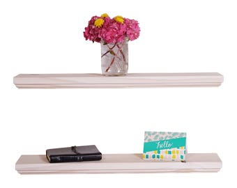 """Routed Edge Floating Shelves 24"""" (Set of 2) 100% countersunk hidden brackets"""