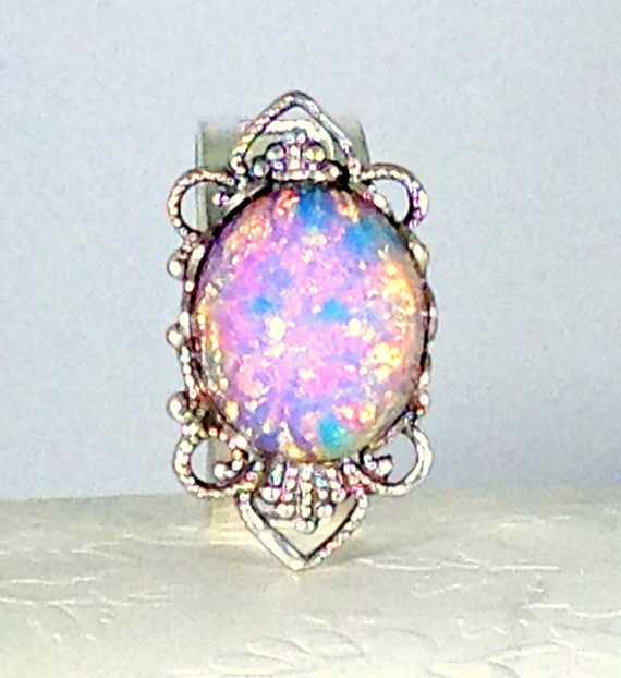 Items Similar To Opal Ring Exquisite Braided Opal: Items Similar To Pink Dragon's Breath Opal Ring, Teen