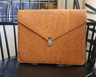 Vintage Leather Portfolio/Laptop Case