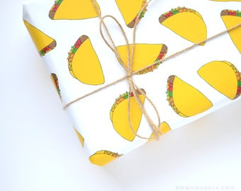 Tacos Gift Wrap - Funny Wrapping Paper - Gift Wrap Sheets