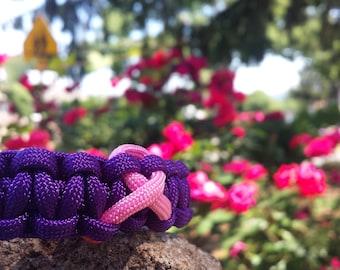 Purple Breast Cancer Awareness Bracelet