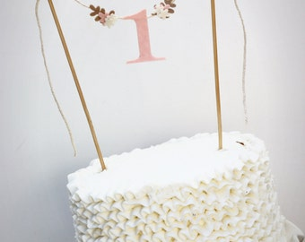 First Birthday Cake Banner, One Cake Banner,  Birthday Cake Banner, Smash Cake Banner, One Cake Topper