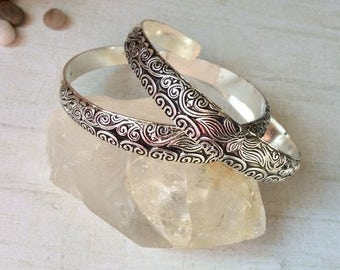 Antique Silver Split Bangle