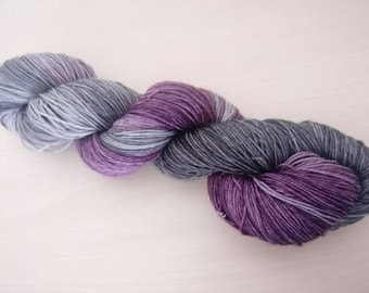 Hand dyed 100% merino wool shades of Grey
