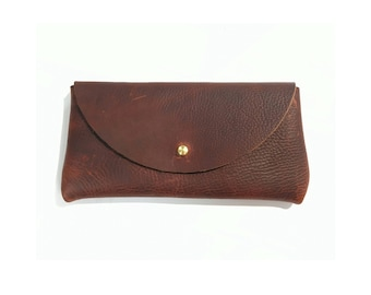 SUNNIES CASE Henna Brown • Oil Tanned Leather Sunglasses Pouch or Wallet