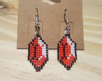 Zelda - red Rupee earrings-