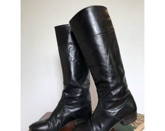 80s Leather Riding Boots | Saks Fifth Avenue