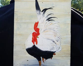 B&W Rooster