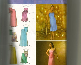 Simplicity Misses'  Special Occasion Top With Drape Variations and Short and Long Skirt Pattern  4217