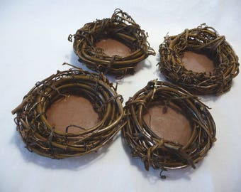 Small Vine Wreaths, Mini Vine Wreaths, Natural Wreaths, Wreaths with Backing, Four Wreaths, Floral Supplies, Craft Supplies, Art Supplies