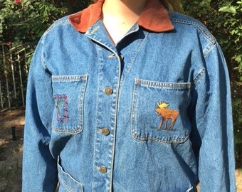 Casey Coleman embroidered denim jacket,small-medium,denim coat