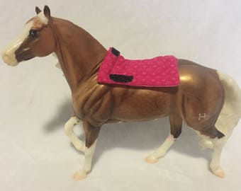 Model Horse Saddle Pad Pink Dot Blanket for Traditional Breyer