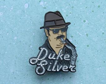 Ron Swanson pin, Duke Silver pin, parks and recreation pin, enamel pin set