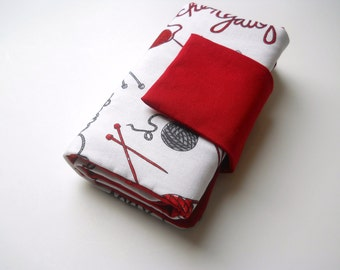 Interchangeable needle case-knitting theme