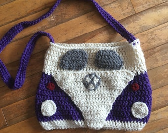 VW van - Crochet bag